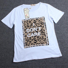 Load image into Gallery viewer, Leopard Grain Prints Letters Pattern Family T-Shirt