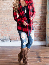 Load image into Gallery viewer, Plaid Printed Cardigans