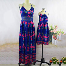 Load image into Gallery viewer, Mom Girl Flower Prints Backless Matching Dress