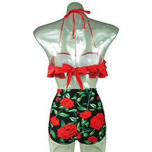 Load image into Gallery viewer, Mommy And Me Mom Girl Botanical Prints Halter Matching Swimwear