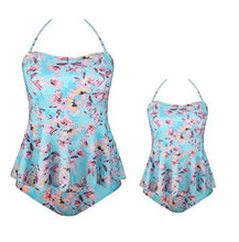 Load image into Gallery viewer, Mom Girl Flower Prints Halter Matching Swimwear