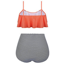 Load image into Gallery viewer, Mom Girl Stripes Matching Cami Swimwear