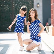 Load image into Gallery viewer, Polka Dots Round Neck Family Outfits