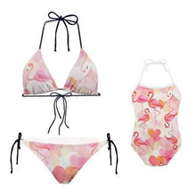 Load image into Gallery viewer, Mom Girl Flamingos Prints Matching Swimwear