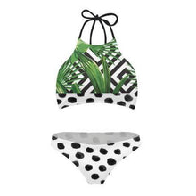 Load image into Gallery viewer, Mom Girl Polka Dots Leaves Prints Matching Swimwear