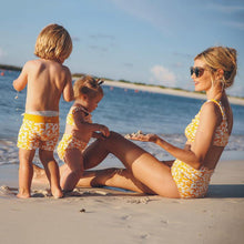 Load image into Gallery viewer, Scalloped Trim Family Matching Swimwear