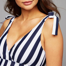 Load image into Gallery viewer, Maternity Stripes Swimwear One Piece