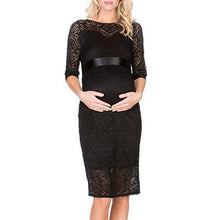 Load image into Gallery viewer, Maternity Tie Self Lace Dress