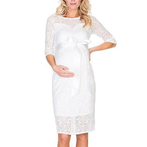 Maternity Tie Self Lace Dress
