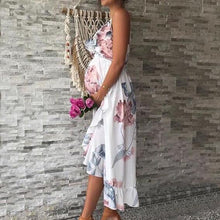 Load image into Gallery viewer, Maternity Irregular Ruffle Hem Cami Dress