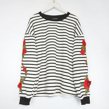 Load image into Gallery viewer, Early Autumn Fashion Stripe Embroidered Sweater