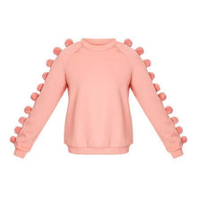 Load image into Gallery viewer, Early Autumn Fashion Hairball Pure Color Sweater