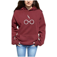 Load image into Gallery viewer, Early Autumn Fashion Carton Glasses Printed Hoodies