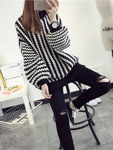Puff Sleeve Pullover Sweater