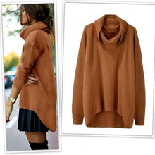 Load image into Gallery viewer, Fashion Early Autumn Pure Color Irregular Sweater