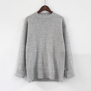 Casual Loose Round Neck Knit Sweater