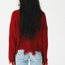 Load image into Gallery viewer, New Hem Fringed Women's Sweater