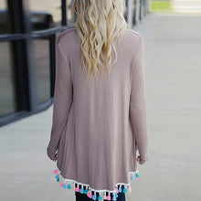 Load image into Gallery viewer, Fashion Tassel Long Sleeve Cardigans