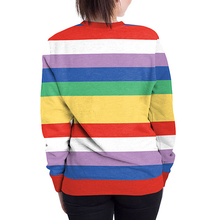 Load image into Gallery viewer, Rainbow Striped Halloween Print Pullover