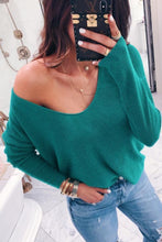 Load image into Gallery viewer, V  Neck   Plain  Basic  Sweaters