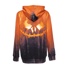 Load image into Gallery viewer, Halloween Ghostly Face Printing Hoodie