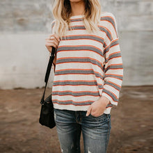 Load image into Gallery viewer, Fashion Stripes Long Sleeve Loose Knitting Sweaters