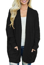 Load image into Gallery viewer, Kangaroo Pocket  Plain Basic  Cardigans