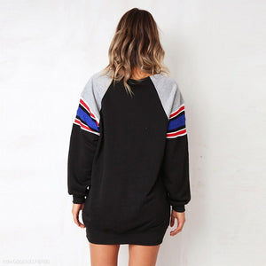 Striped Pullover Loose Long Sleeve T-Shirt Sweatshirts