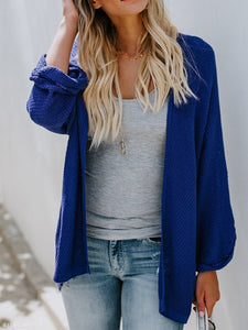 Plain Loose Knit Cardigans