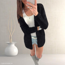 Load image into Gallery viewer, Loose Plain Long Sleeve Pocket Casual Cardigans