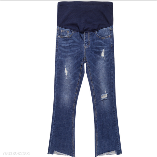 Fashion Pregnant Women Bottoming Autumn Pants Jeans