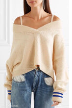 Load image into Gallery viewer, Fashion V-Neck Sling Strapless Sweater