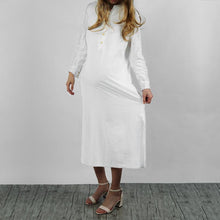 Load image into Gallery viewer, Maternity Kaftan Long Sleeve Split Plain Cotton Maxi  Dress