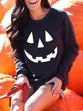 Load image into Gallery viewer, Halloween Rinted Long Sleeved Sweater