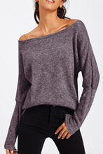 Load image into Gallery viewer, Off Shoulder  Plain  Elegant Sweaters