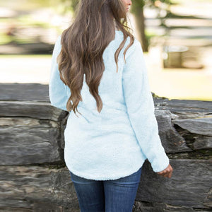 Turtle Neck Zipper Long Sleeve Plain Sweatershirts