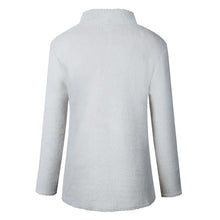 Load image into Gallery viewer, Turtle Neck Zipper Long Sleeve Plain Sweatershirts