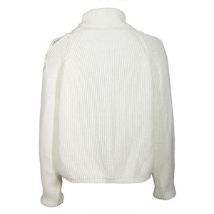 Turtle Neck Long Lantern Sleeve Hollow Out Sweaters