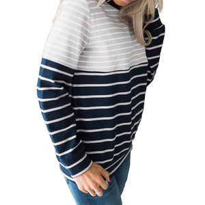 Striped Stitching Long Sleeve Sweatshirts