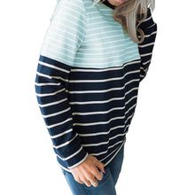Load image into Gallery viewer, Striped Stitching Long Sleeve Sweatshirts