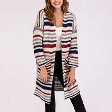 Load image into Gallery viewer, Stripe Long Sleeves Cardigan