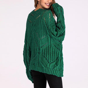 V Collar Long Sleeves Casual Knitting Cardigan