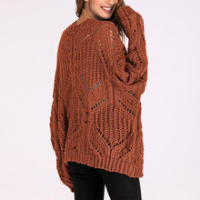 Load image into Gallery viewer, V Collar Long Sleeves Casual Knitting Cardigan