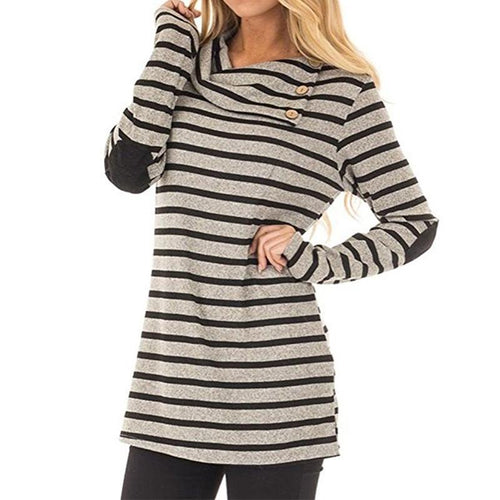 Casual Stripe Sweatshirt