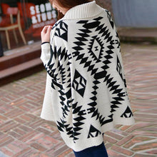 Load image into Gallery viewer, Rhombus Jacquard Weave Knitting Cardigan