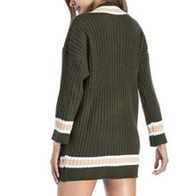 Load image into Gallery viewer, V Collar Long Sleeves Casual Comfort Knitted Sweater