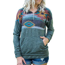 Load image into Gallery viewer, Geometry Printing Splicing Long Sleeves Hoodie