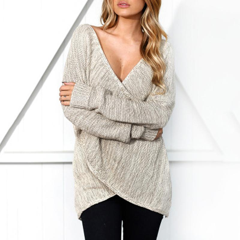Overlapping Long Sleeves Sweater