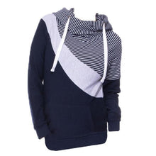 Load image into Gallery viewer, Women Multi Color Split Joint Long Sleeve Lactation Clothes Hoodie
