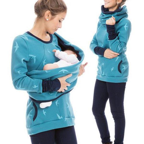 Multi-Function Lactation Maternity Hoodie